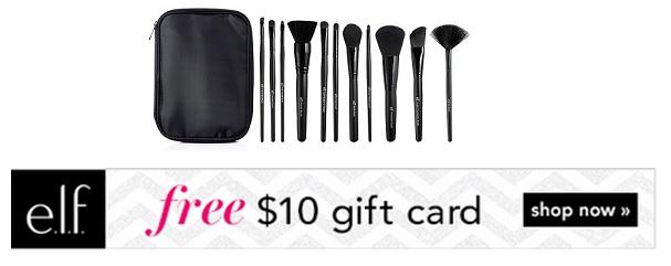 Elf Brush Set + Gift Card offer