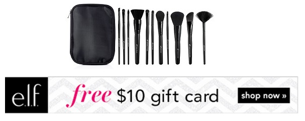 Elf Brush Set + Gift Card offer