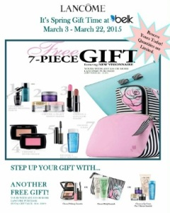 Upcoming Lancome GWP at Belk sneak peek