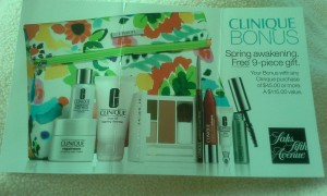 Saks Clinique Bonus sneak peek