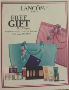 Lancome GWP at Belk sneak peek