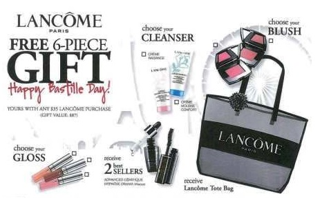 Upcoming Lancome GWP at Dillard's