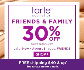 Tarte Friends and Family Sale