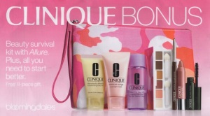 upcoming Clinique Bonus at Bloomingdale's