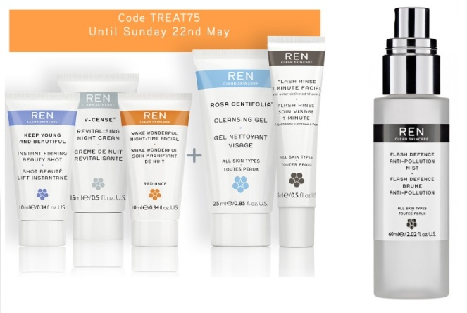 REN Skincare freebies/mist