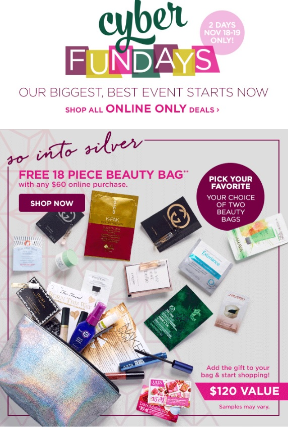 Ulta Beauty Cyber Fundays