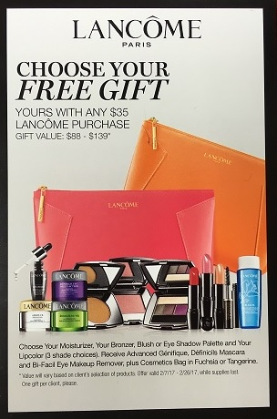 UPCOMING Lancome GWP at Macy's