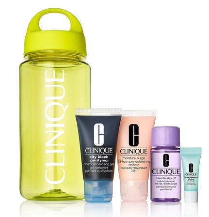 Clinique water bottle set