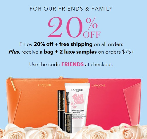 lancome friends and family sale
